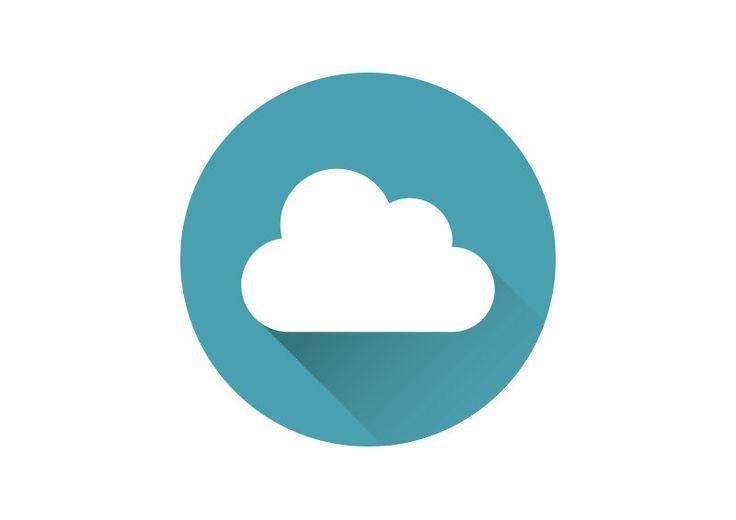 Flat Cloud Vector Icon