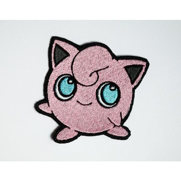 Jigglypuff Iron on patch Shiny Metallic Embroidered. Pokemon patch. ($10) ❤ liked on Polyvore featuring accessories