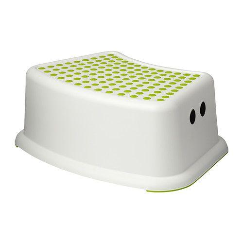 IKEA - FÖRSIKTIG, Kinderkruk, , Antislip-profiel aan de bovenkant; vermindert het risico op uitglijden.Door het antislipmateriaal aan de onderkant blijft de kruk stevig staan.