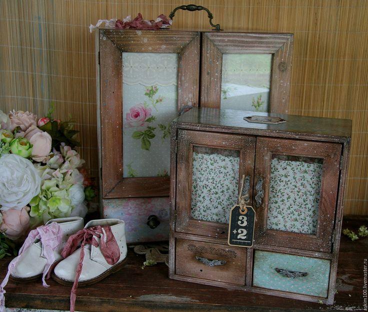 Купить Большой буфет для интерьера - розовый, кукольная мебель, хранение специй, аптечка декупаж, аптечка