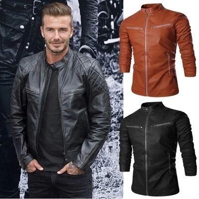 Одежда 2015 Мужской кожаная одежда утолщение верхняя одежда мотоцикл кожаная одежда подростковая мужская кожаная куртка бесплатная доставка