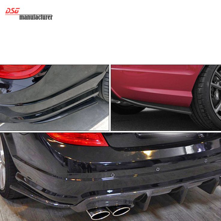 Mercedes C class 2012-2014 LCI w204 4-door sedan C63 AMG style back bumper splitter lip for benz C250 C350 C220 C300