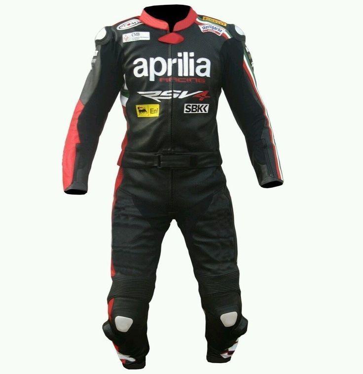 APPRILIA RSV4 MotoGP Racing MotorBike Leather Suit For Men Hump Jacket & Pant #Handmade #Motorcycle
