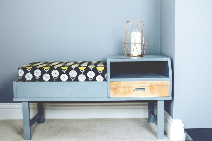 Updating a mid century telephone table with Pinty Plus - What Hannah Did Next