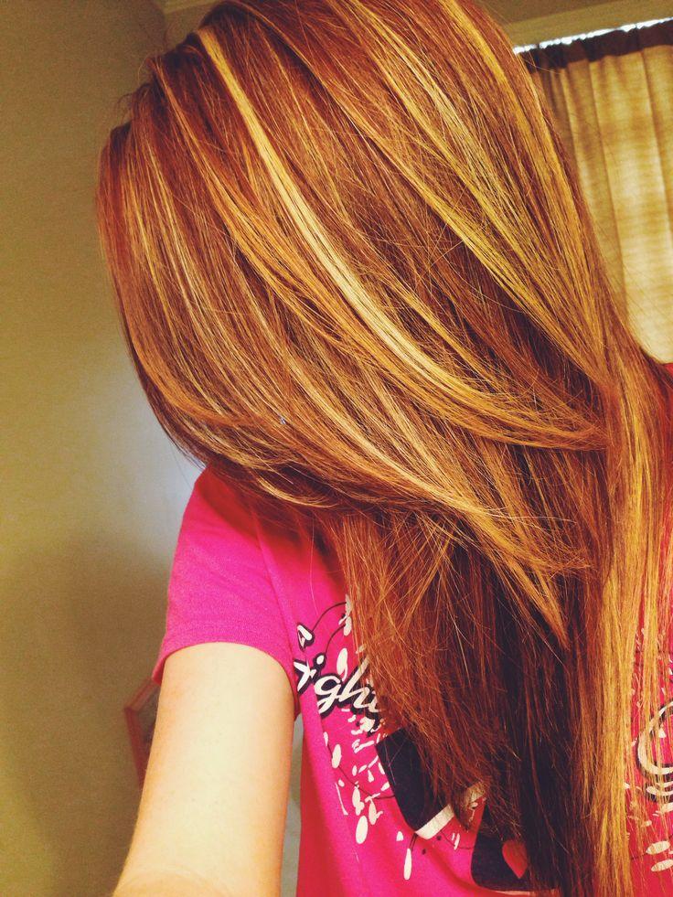 Best 25 Red Hair Blonde Highlights Ideas On Pinterest
