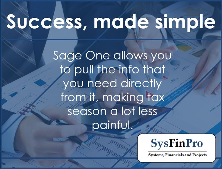#Sage One makes the tax season less painfull by allowing you to pull the information you need from it. Contact #SysFinPro for more information at info@sysfinpro.co.za