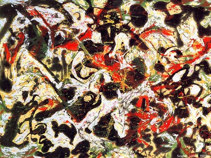 Jackson Pollock / Search / 1955 / Oil And Enamel Paint On