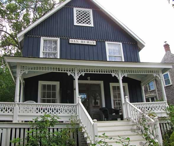Blue house with white trim favorite places spaces - White house white trim ...
