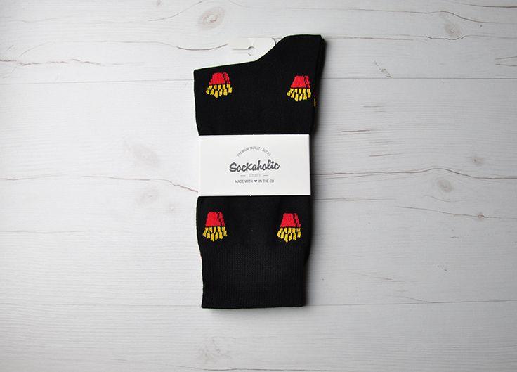 Fries  #socks #calcetines #black #food #fries #foodporn