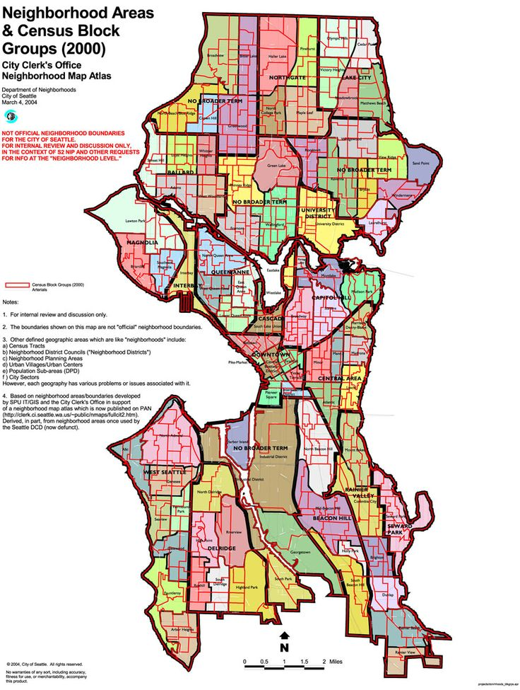 Seattle City Neighborhood Map  Seattle  Pinterest