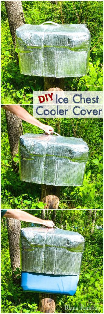 DIY Ice Chest Cooler Cover - Here is a simple solution for extending the life of the ice in your cooler. It is perfect for camping, parties or hot days outside.