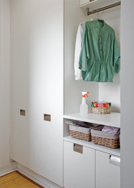 Cinco lavanderias bonitas e organizadas (com planta baixa)