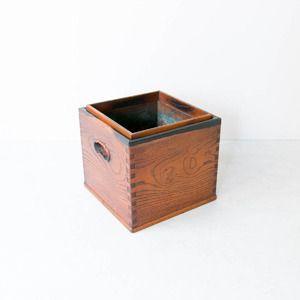 黒柿縁の角火鉢 #古民具 #日本 #antique #vintage #japan #japanesestyle
