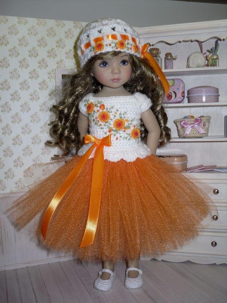 Set for Dianna Effner Little Darling 13 inches doll - blouse, skirt, hat. | eBay