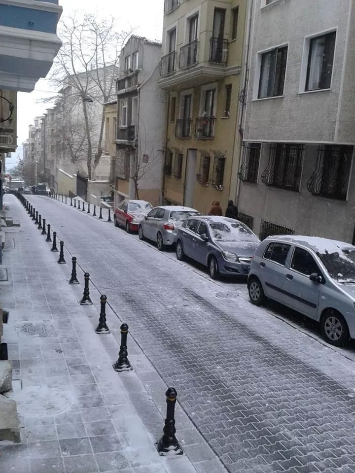 True story! Snow in Nemlizade Street Kadiköy on 7 January 2014 :)