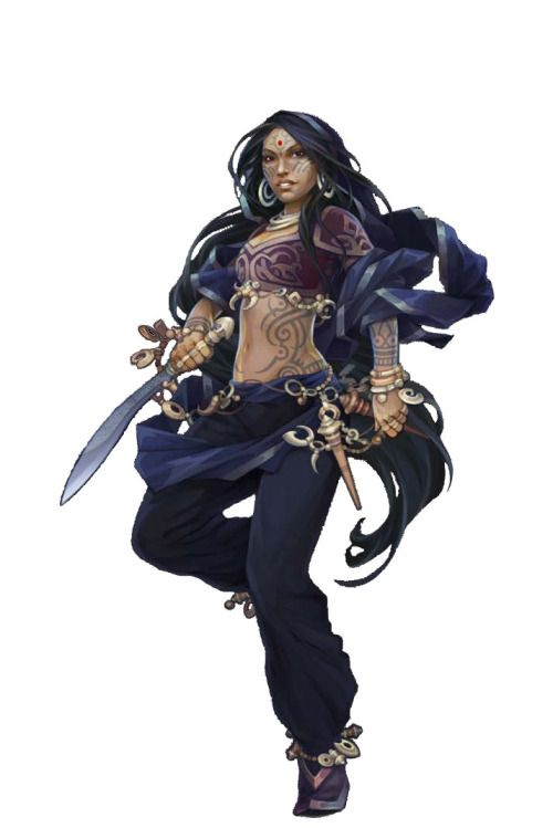 Ganyavesha, Female human oracle 12, from Pathfinder: The Ruby Phoenix Tournament / Paizo