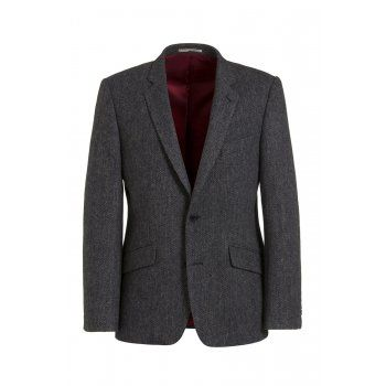 Magee have been specialising in jackets for over 140 years. The Dillon is a tailored fitting jacket. The fabric is handwoven in Donegal, a soft lambswool blue herringbone tweed, with distinctive flecks of colour - yellows, oranges and browns. Features include brown elbow patches, slant pockets, contrasting two-tone under-collar and side vents. This timeless casual jacket is a must for your wardrobe.