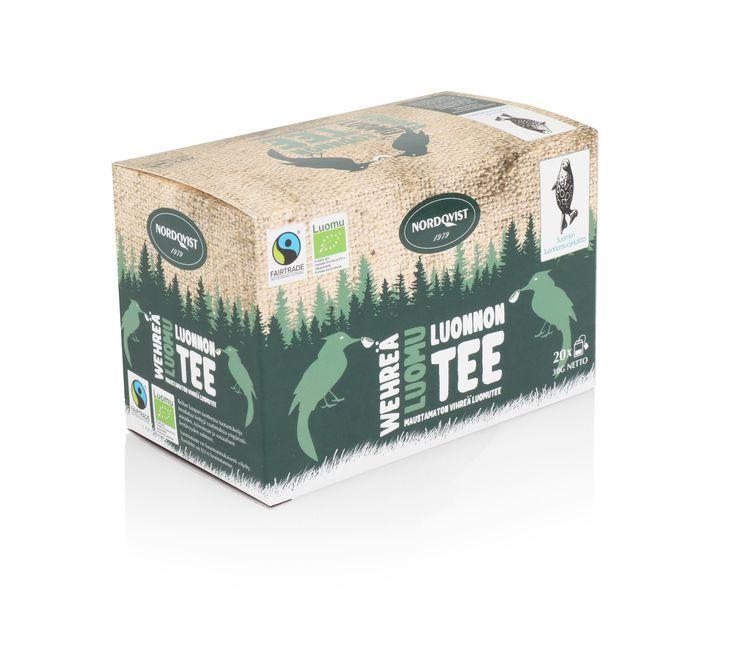 NEW Nordqvist organic tea box. Organic green tea.