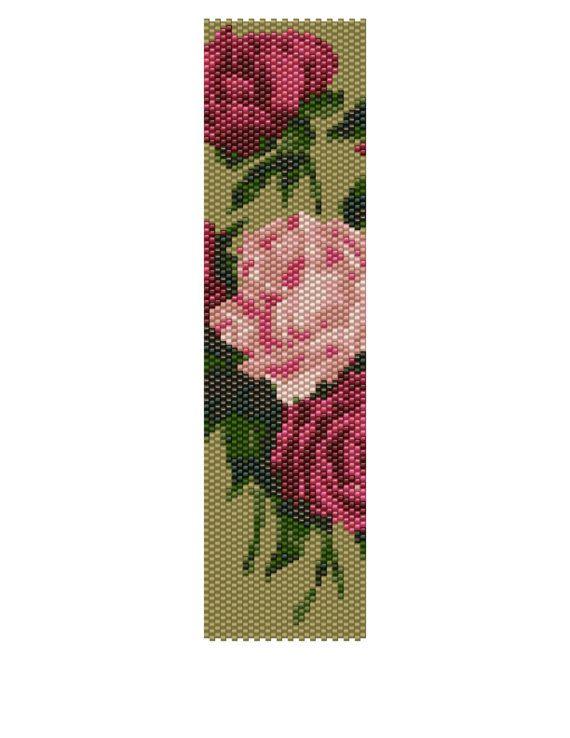 Peyote Bracelet Pattern  Victorian Floral Buy 2 by KFSDesigns