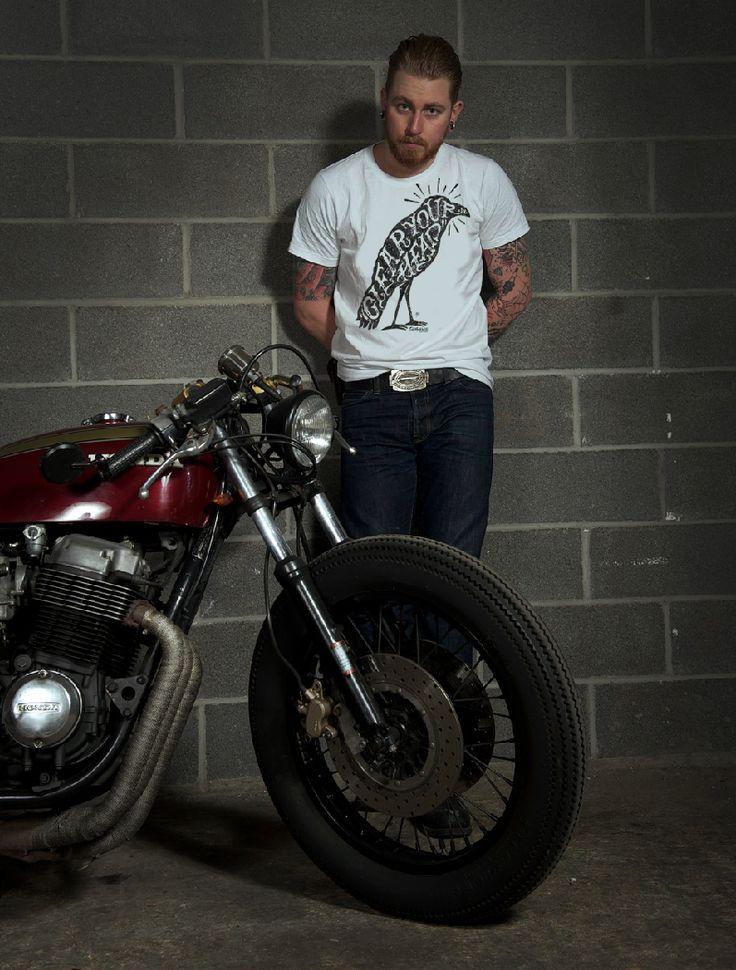 Tee-shirt by gentlemen's factory Design : Bruno Allard Photo : Laurent Scavone Moto : Honda 750 ...