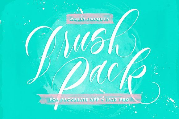 Procreate Lettering Brushes by Molly Jacques on @creativemarket