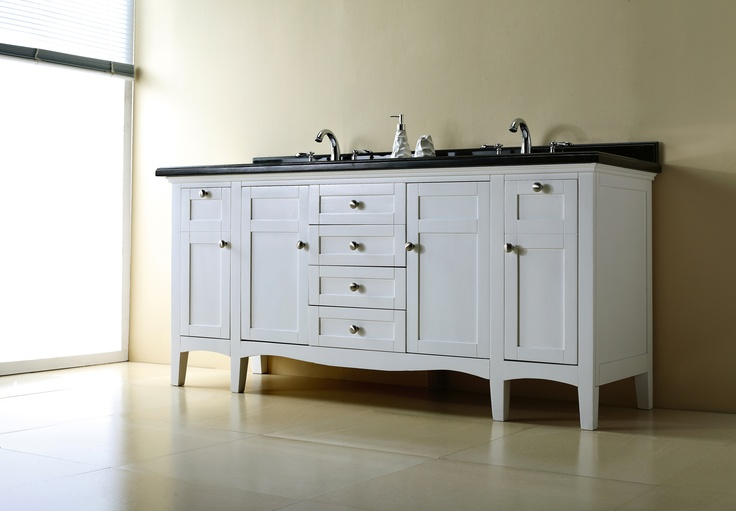 vanity features mixed hardwood furniture with a white finish black