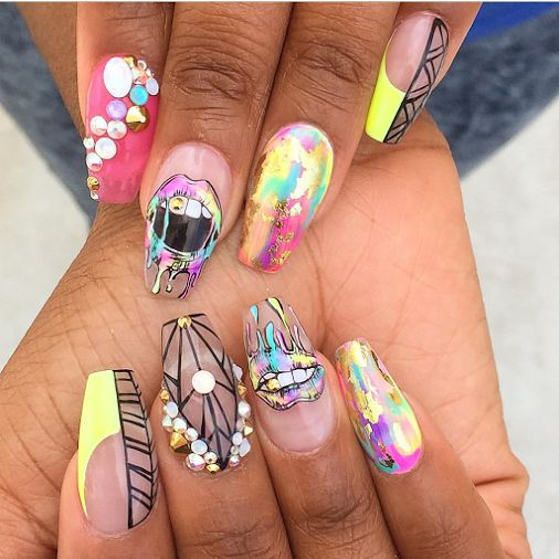 Ballerina shape nails dope nails - The 25+ Best Dope Nails Ideas On Pinterest Dope Nail Designs