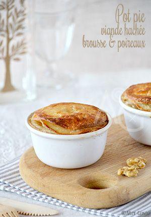 Pot Pie à la viande hachée, brousse & poireaux -