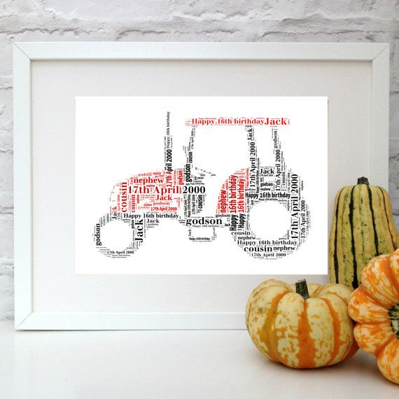 Personalised Tractor Print - Custom Tractor print - Nursery art - Name Print - Farmer Gift - Tractor Nursery - Baptism Gift - Tractor gift  Do you know someone who loves tractors? This is the gift for you. This print is a beautiful gift for any childs room or tractor drivers desk!  During the checkout process, include the name or words you would like to appear on the print in the notes to seller section and any specific colour combinations. Pepper Doodles