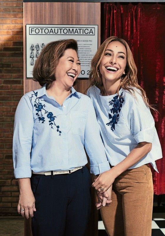 Kika Sato Rahal e a filha, Sabrina Sato, posaram juntas para uma campanha do Dia das Mães (Foto: Pedrita Junckes)