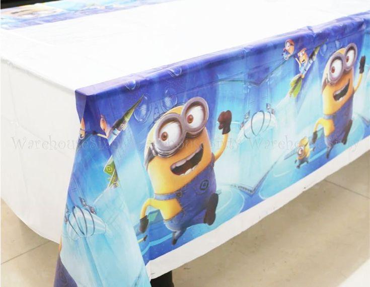 Minion Plastic Table Cloth Birthday Party Supplies. AU STOCK FAST POSTAGE!