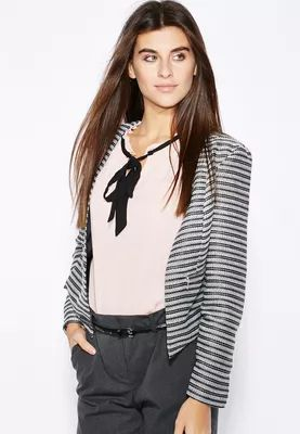 Dorothy Perkins Striped Boucle Jacket