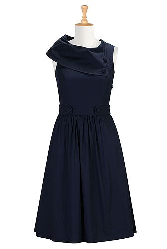 Vintage cotton poplin dress from eShakti. Sizes 0-36W. Save $35 on your first eShakti purchase with this link: http://www.eshakti.com/referralregister14.aspx?code=EYEFR9138 And get free style and fit customization!