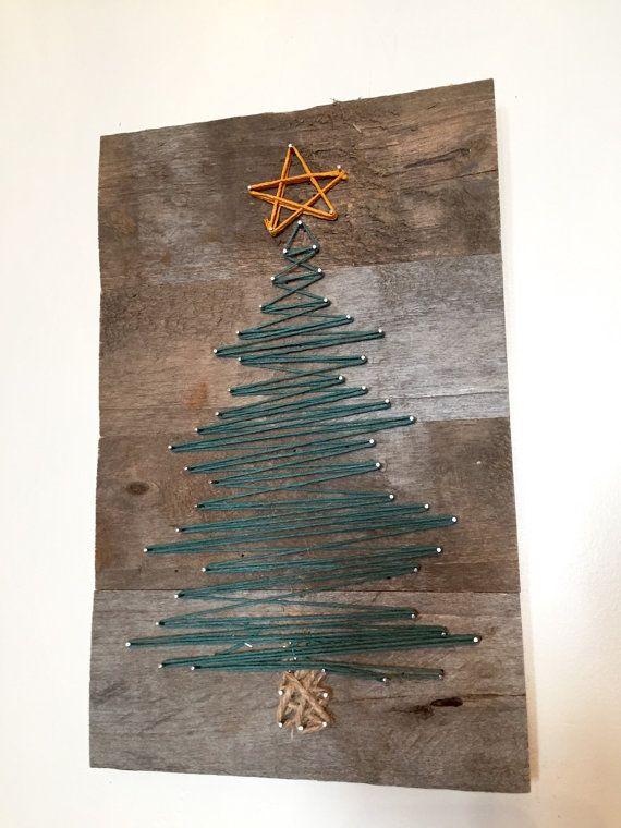 Arbre de Noël de l'Art de chaîne par ConwayCraftings sur Etsy