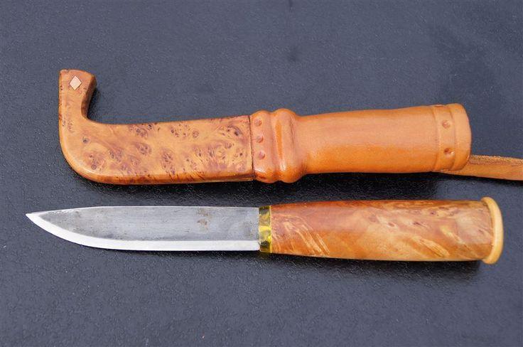 Vacker SAMEKNIV i trä med detaljer kniv lappland på Tradera.com - Knivar