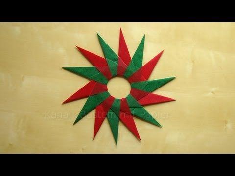 Bascetta Stern: Anleitung für Origami Stern - Weihnachtssterne Ideen - YouTube