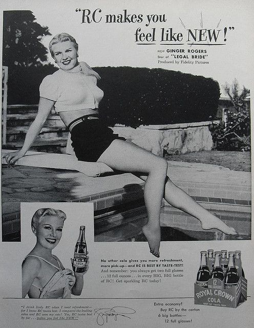 1947 ROYAL CROWN COLA RC soda vintage advertisement Ginger Rogers Classic