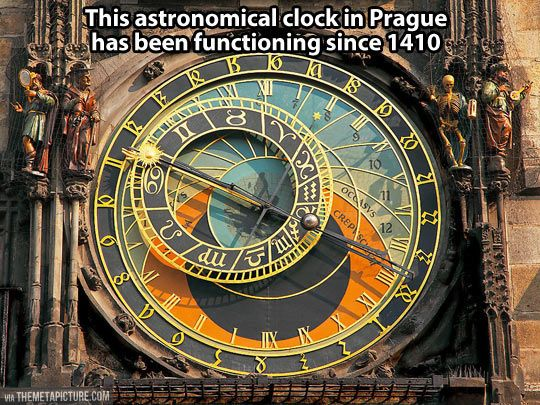 Astronomical clock in Prague...