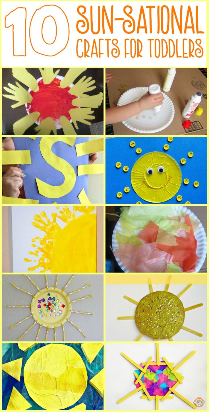 Unit study colors preschool - 10 Easy Sun Themed Crafts For Toddlers And Preschoolers