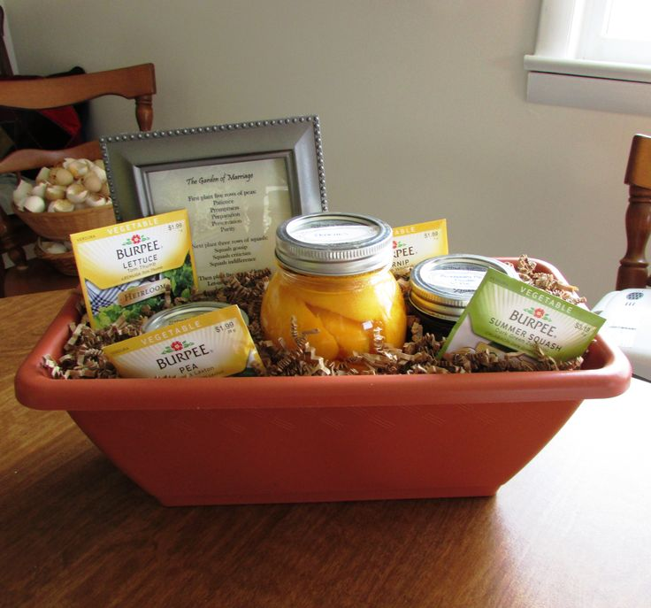 Create A Wedding Gift Basket : Thrifty gifts: Make your own gift baskets. This wedding gift basket is ...