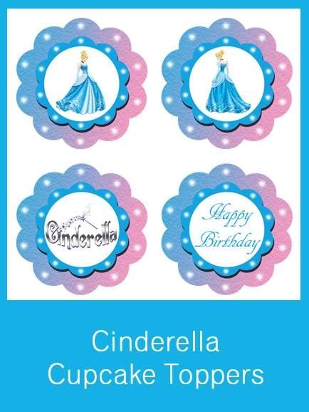 Cinderella Cupcake Toppers - FREE PDF Download ...