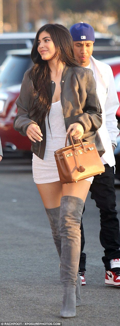 Kylie made an appearance with her apparently back on boyfriend Tyga,...