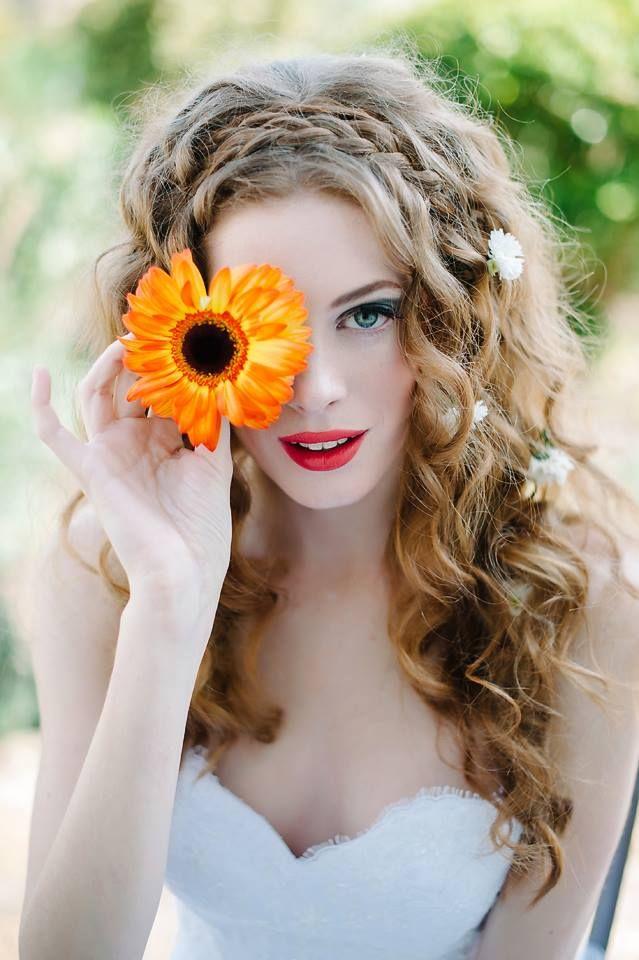 https://www.facebook.com/kimrosedevriesmodel Debbie Lourens Photography Fringe Hair and Makeup Studio Rene H Couture ♡ #model #bridal #flower #redhair #capetown