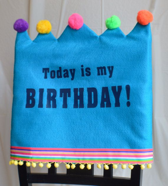 Birthday Chair Cover by joyfulldelights on Etsy