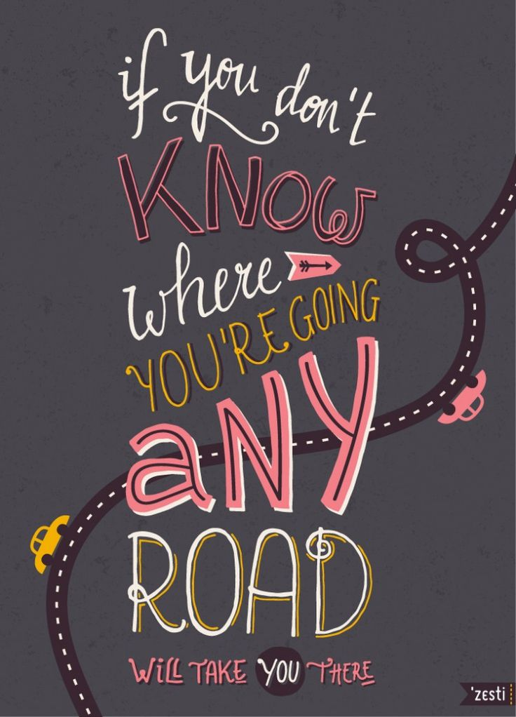 Hand Lettering by 'Zesti -quote from Alice in Wonderland