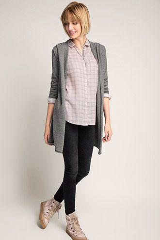 Esprit / Soepele blouse met oprolbare mouwen