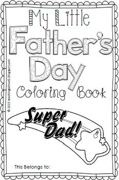 This mini book for Father's Day includes 11 pages of black