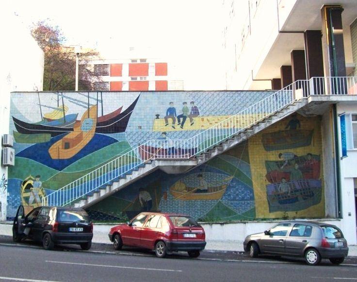 Rolando Sá Nogueira | Lisboa | Avenida Infante Santo | 1959  #Azulejo #SáNogueira