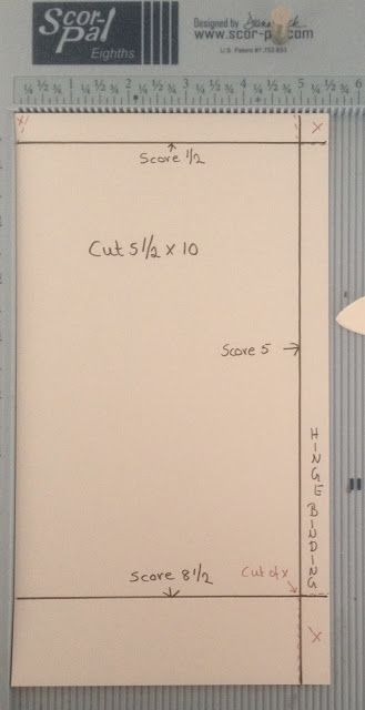 Part 1 How to make a 8x5 pocket mini album template by Anne Rostad
