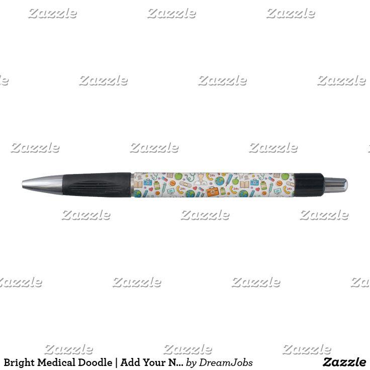Bright Medical Doodle | Add Your Name. Producto disponible en tienda Zazzle. Tecnología. Product available in Zazzle store. #pen #lápiz